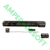 """PTS - Mega Arms Wedge Lock Handguard 12"""" (Black) Kit with Accessories"""