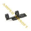 GK Tactical - 25/30mm QD Extension Dual Scope Mount (Black)