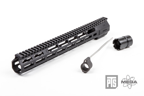 "PTS - Mega Arms Wedge Lock Handguard 14"" (Black) Full Kit"