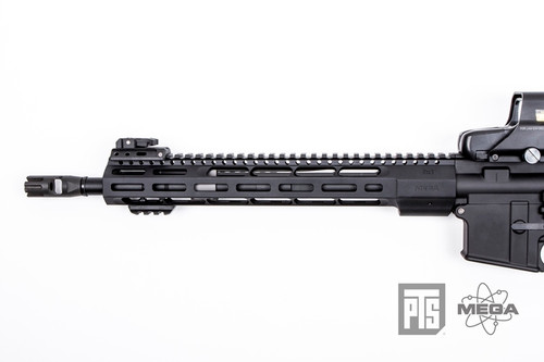"PTS - Mega Arms Wedge Lock Handguard 12"" (Black) Installed on Rifle"