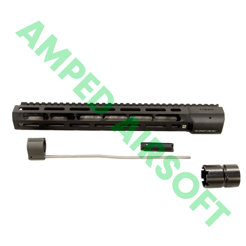 "PTS - Mega Arms Wedge Lock Handguard 12"" (Black) Kit with Accessories"
