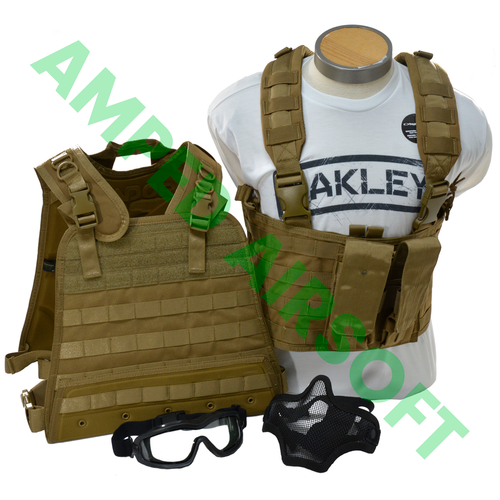 amped bundle condor compact plate carrier cpc coyote brown cb goggles face mesh mask__07249.1512527648?c=2 amped airsoft  at readyjetset.co