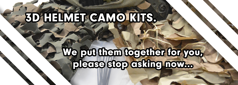 3D Helmet Camo Netting Kits