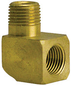 "Foster/ZSI - Brass Hose Fitting, 90 Degree Adapter for 1/8"" NPTM x 1/8"" NPTF Male Pipe (90 Adapter)"