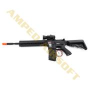 Amped Custom HPA Rifle - G&G Combat Machine CM16 R8-L (Black)