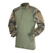 Tru-Spec - 1/4 Zip Tactical Response Combat Shirt (Poly-Cotton) (Woodland Digital)