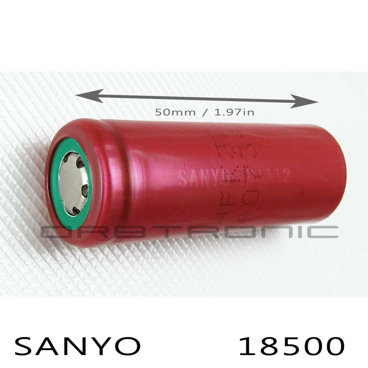 18500 Sanyo 1700mah Li Ion Battery 3 7v