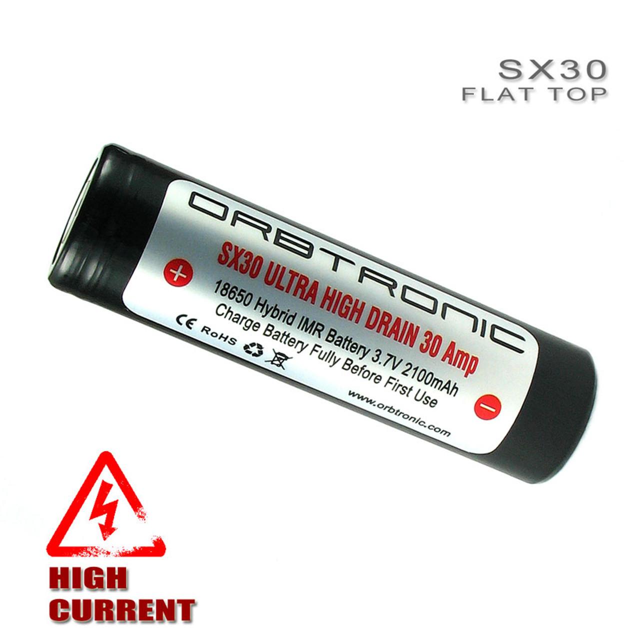 18650 30A Battery Flat Top IMR High Drain SX30 ...