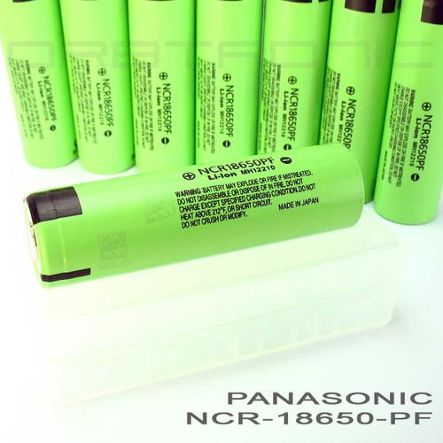 Panasonic NCR18650PF 18650 10 Amp. 2900mAh Hybrid IMR Li-ion Rechargeable Battery - Flat Top - High Drain