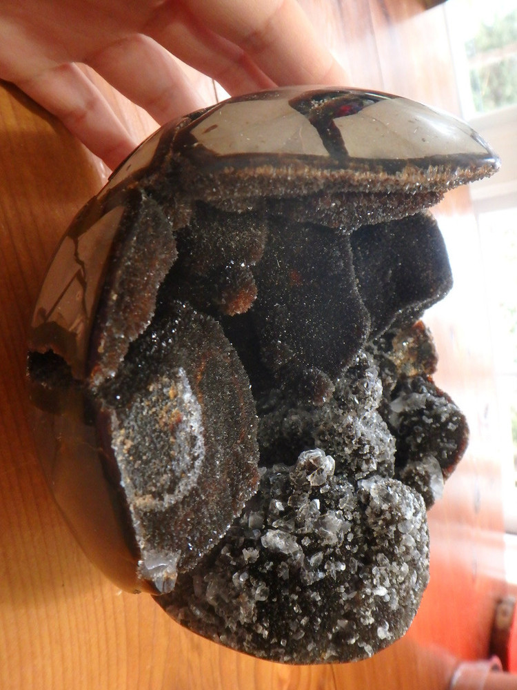 Jaw Dropping Amazing Jumbo Septarian Dragon Geode Sphere