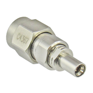 C4367 MiniSMP/Male Full Detente to SMA/Male 18 Ghz Adapter Centric RF