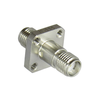 C3114 SMA/Female to SMA/Female Flange Adapter with Tapped Holes Centric RF