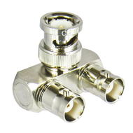 C2188 BNC/Male/Female/Female Right Angle Y Adapter Centric RF