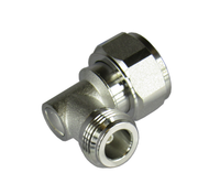 C8512 4.3/10 Male to N/Female Right Angle Adapter Centric RF