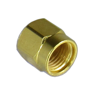 CSM1A SMA/Male Dust Cap with Gold Finish Centric RF