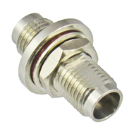 C7522 2.4mm F/F Bulkhead Adapter. Stainless Steel. 0-50Ghz. Includes O-Ring. VSWR 1.2 Centric RF