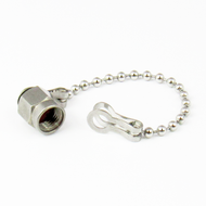CSM2C Dust Cap Male for SMA 2.92mm 3.5mm S Steel w Chain Centric RF