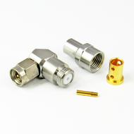 CX1433 SMA Male Connector Right Angle for LL142 Cable Centric RF
