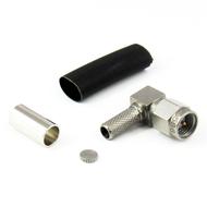 CX0586 SMA Male Right Angle Crimp Connector RG58 Centric RF