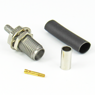 CX3176 SMA Female Bulkhead Connector RG316 RG174 LMR100 S Steel Crimp Solder Centric RF
