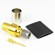 CX4001 SMA Male Connector for LMR400 Cable S Steel Crimp Solder Centric RF