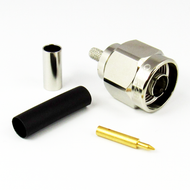CX1428 N Male Connector for RG142 Cable Brass Centric RF