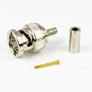 CX7536 BNC Male Connector for RG179 RG187 Crimp 75Ohm Centric RF