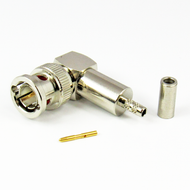 CX7525 BNC Male R Angle Connector AT&T 735A Cable Crimp 75Ohm Centric RF
