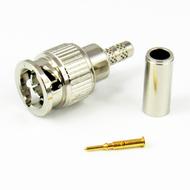 CX7570 MiniBNC Male Connector AT&T 735A Cable Crimp 75Ohm Centric RF