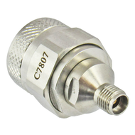 C7807 3.5mm Female to N Male Adapter 18Ghz VSWR 1.15 Centric RF