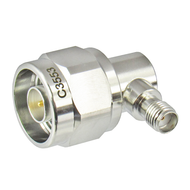 C3553 N/Male to SMA/Female Right Angle Coaxial Adapter Centric RF