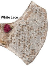 White Lace I Can Breathe Honeycomb Carbon Filter Allergy Mask