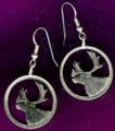 Canadian Quarter Caribou Earrings