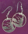Hawaii Quarter Earrings