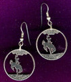 Wyoming Quarter Earrings