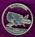 Louisiana Quarter Cut Out, Pendant, or KeyRing