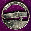 North Carolina Quarter Cut Out, Pendant, or KeyRing