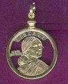 Sacagawea Dollar Cut Only, Pendant, or KeyRing