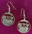 Arkansas Quarter Earrings