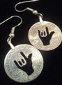 "American Sign Language ""I Love You"" in Dimes as Earrings"