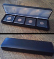 Black Leatherette Box For 4 Coins