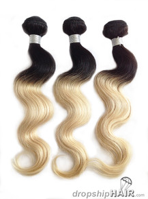 Ombre 1T-613 / 1B Root Hair Weft 2-Tone Color