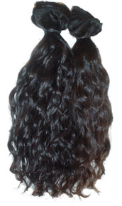1 - 100% Virgin Indian Hair Weft - Wavy