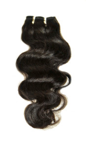"Brazilian Virgin 7A Hand Tied 14"" Body Wave"