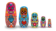Day of the Dead Wood Nesting Doll Set