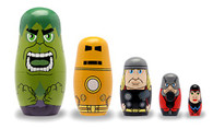 Founding Avengers Wood Nesting Doll Set