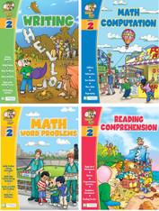 Smart Alec (2nd Grade) 4 Pack Learning Series, Includes: Writing, Math Readiness, Reading Readiness, Math Word Problems
