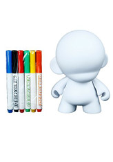 "Kid Robot unisex-adult 7"" Munny w/ Reusable Markers Standard"