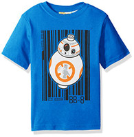 Star Wars Little Boys' Lego Bb-8 T-Shirt, Blue, 5/6