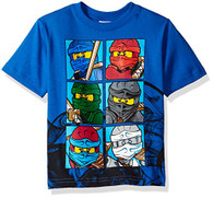 Lego Ninjago Big Boys' T-Shirt, Blue, 10/12